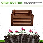 Leisurelife Metal Raised Garden Bed Planter Box Kits for Vegetables Outdoor, Steel, 2x2 ft, Brown 14 【Raised Garden Bed Size】:8x4 ft, height 1ft. No bottom 【Material】: The planter box made of color steel, waterproof and anti-rust, can be used for 10 years. 【Open-bottom】: Integrating with nature, there is no trouble with standing water.