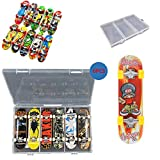 VWORK 6PCS Professional Mini Fingerboards Kit with a Box, Upgrated Finger Skateboards for Kids and Teens