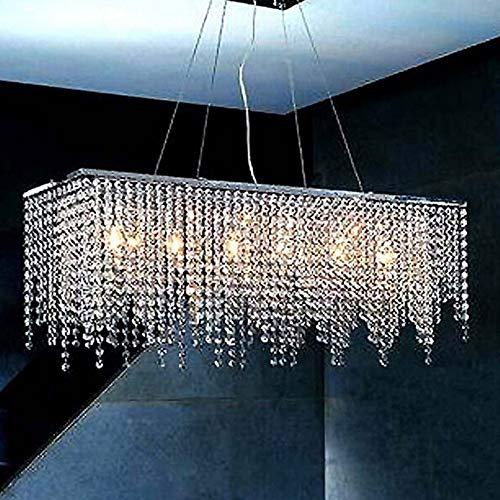 lamp Lampadario di Cristallo Rettangolare Moderno Apparecchio di Illuminazione Ristorante Elegante Semplice