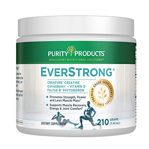 EverStrong Powder - Muscle Matrix Blend   Creapure Creatine   Boron (FruiteX-B PhytoBoron)   CoffeeBerry Extract   Boosted with 1000 IU Vitamin D - Berry Burst (210 g) from Purity Products