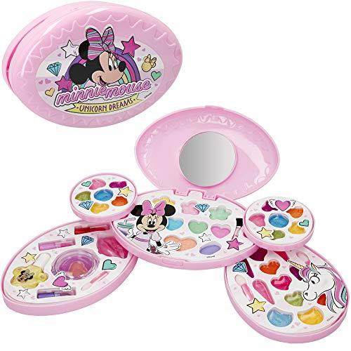 Disney - Maletin maquillaje Minnie Mouse Set maquillaje Minnie Juego de maquillaje para ni?os ni?as 5 a?os Maletin maquillaje infantil Disney Pintau?as Ni?as Manicura juguete (77199)