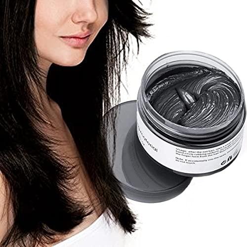 Color Cabello Cera Tinte Instantáneo para Cabello Lodo Cabello Desechable Crema para Peinado Natural Modelado Temporal Pomada Arcilla negro