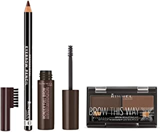 Rimmel London Brow Game Dark Brown Brow Kit
