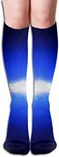 パーソナライズされたクールアスレチックハイソックスストッキング電気工学女の子のファッションノベルティスポーツクルーチューブ膝ソックスストッキング