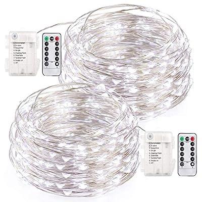 LED String Lights, 33 Feet Fairy Lights Battery...