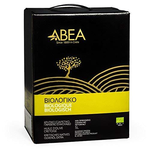 Abea 5000ml (5l) BIO Feinkost Extra Natives Olivenöl aus Kreta Griechenland in der Vorratsbox - Karton mit Zapfhahn - DE-ÖKO-007 - Ernte 2020