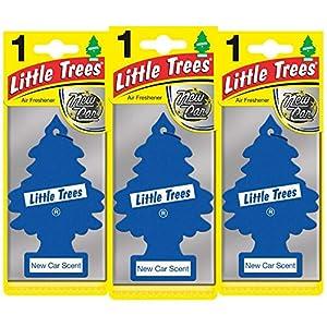 LITTLE TREES LTZ002 Ambientador, Coche Nuevo, 3 Unidades, Set de 3