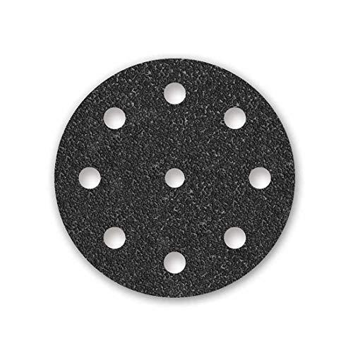 MENZER Black Klett-Schleifscheiben, 125 mm, 9-Loch, Korn 24, f. Exzenterschleifer, Siliciumcarbid (25 Stk.)