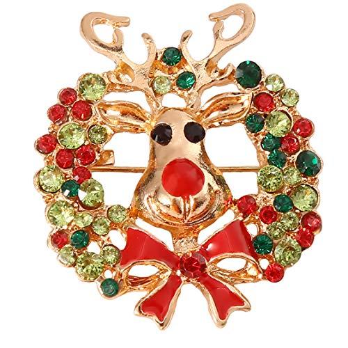 LJJYD Elch Brosche Stifte für Frauen Brosche Hirsch Broschen Weihnachten Rentier Laple Stifte Kragen Pin Ornamente