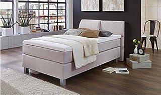 Petit lit à sommier tapissier fin - Lit simple 90 x 200 cm - Fabriqué en Allemagne - Avec surmatelas à ressorts ensachés