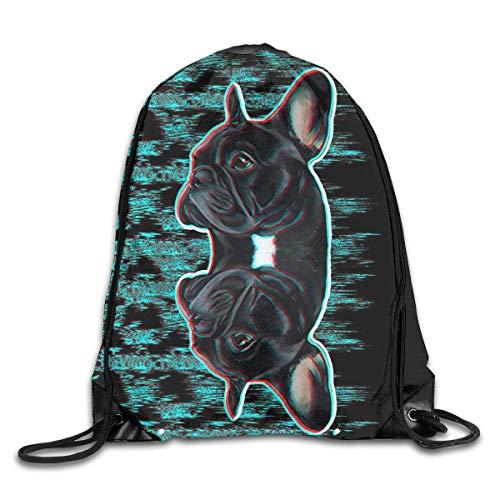 Paquete de mochilas de gimnasio con cordón, abstracto, azul, casual, para mujeres,...