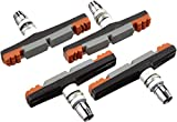 XLC Bremsschuhe Cartridge V-Brake Bs-v10 4er Set 72 Mm Zapatas de Freno, Unisex Adulto, Aspecto de Carbono