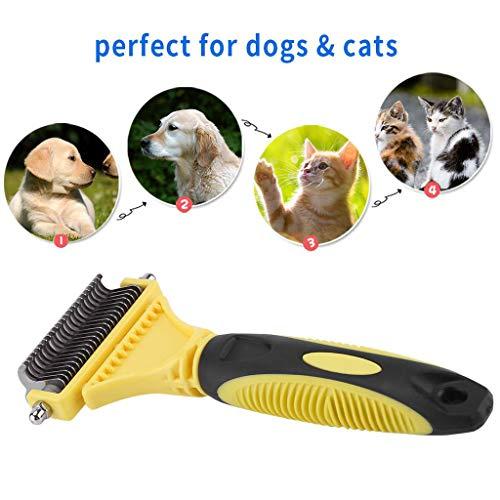 Pet Fur Knot Remover Hond Kat Ontharing Borstel Kam Dubbelzijdig Open Trimmer Kammen Verzorging Verlies Gereedschap