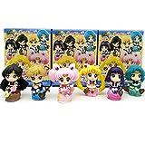 6 Piezas 5 Cm Mini Figura De Sailor Moon Modelo De PVC Figura De Juguete Decoración De Pasteles Muñeca Adornos Juguetes Regalo