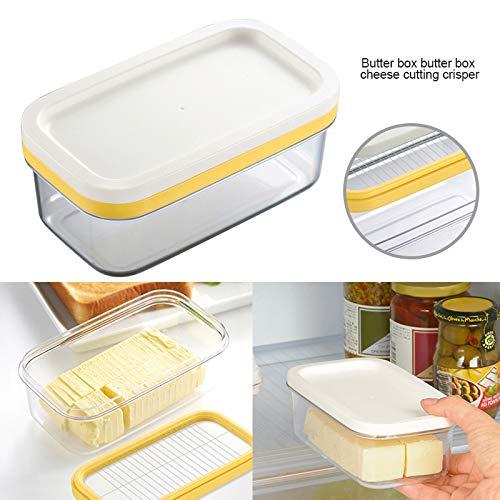 Tecoto Butterdose, 2 in 1 Butterschneider Saver Keeper Case Durable Storage Case mit Deckel für Küche