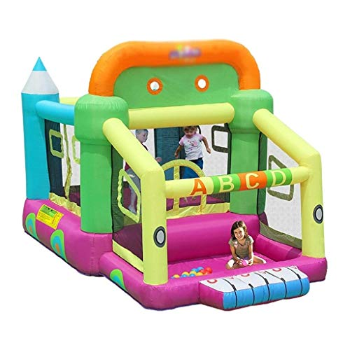 Find Bargain HIZLJJ Outdoor Indoor Bounce House Slide Inflatable Castle Children's Slides Naughty Ca...