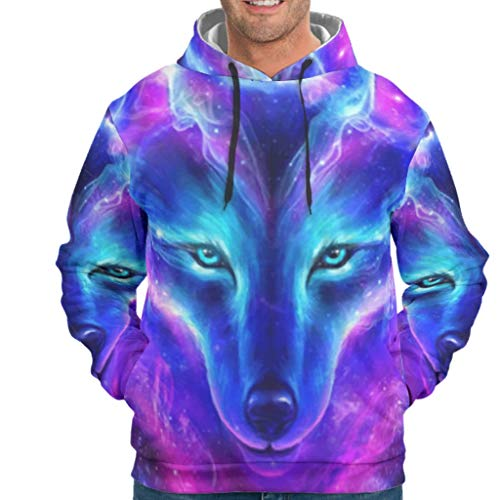 O2ECH-8 Herr Sweatjacke Student Fox Colorful Design Solide - Schwergewicht Atmungsaktiv Jacket White 2XL