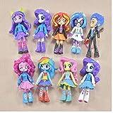 zdfgv 9 unids/Set My Little Pony Fashion Girl Princess Friendship Is Magic Rainbow Unicorn Pony Figuras Modelo Muñecas Set Regalos para niños 12cm