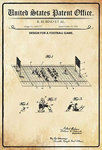 FS Patent ontwerp voetbal spel Robino metalen bord gebogen metalen teken 20 x 30 cm