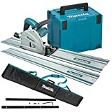 Makita SP6000J1 240V 165MM Plunge Saw with 2 x 1.5M Rails, Connector...