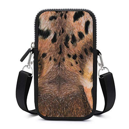 Cellphone Purse Crossbody with Removable Shoulder Strap Blue Eyes Tiger Anti-fall Pouch Case for Money Armband Wallet Yoga Bags Girls