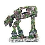 RongWang Acuario Creativo Paisajismo Autobot Robot Perro Transformadores Tema Pecera Decoración Resina Artesanía