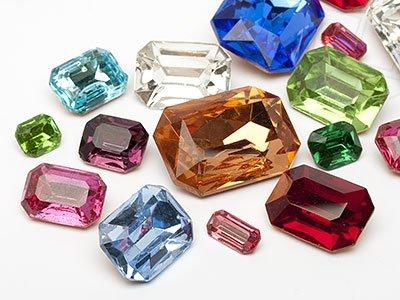 OPTIMA Pierres de gemme de Octagon 7-25mm (Octagon Mix), 30 Pièces