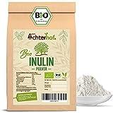 Inulin Pulver BIO 500g | kalorienarmer Ballaststoff aus der Agave | feinkörnig in der Konsistenz und gut wasserlöslich | ideal für Getränke und zum Kochen und Backen verwendbar | vom Achterhof