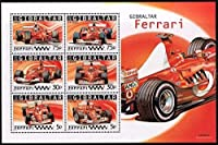 フェラーリのF1チャンピオンマシン/ジブラルタル2004年小型シート
