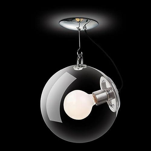 ANDEa Creative Glass Savon Bubble Round Feux de plafond Moderne Art simple Personnalité Chambre Entrée Salon Chambre simple tête E27 prougeection (Couleur    1, taille   25cm)