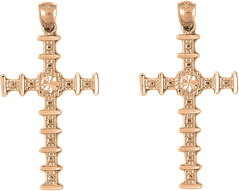 Jewels Mail order Obsession Other Cross Las Vegas Mall Earrings 14K Rose Leve Gold