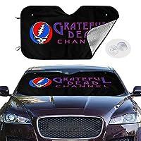 Grateful Dead グレイトフル デッド 車用 サンシェード フロントサンシェード フロントガラス 遮光 遮熱 紫外線対策 暑さ対策 折りたたみ カーサンシェード 簡単着脱 丈夫で長持ち 軽/普通車用700x1300mm 吸盤4個入 かわいい