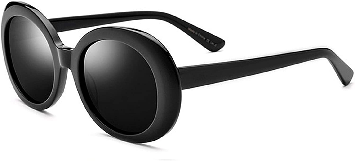 EYES Personality Big Oval Women's Sunglasses Acetate Fibre Frame Polarized Lens UV Predection Driving Fishing Beach Outdoor Sunglasses Outdoor (color   Black)