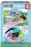 Educa 19095 Barbapa Set di 2 puzzle per bambini da 20 pezzi, a partire da 3 anni