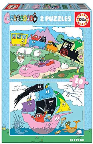 Educa 19095 Barbapapa. Set de 2 Puzzles Infantiles de 20 Piezas. A Partir de 3 años