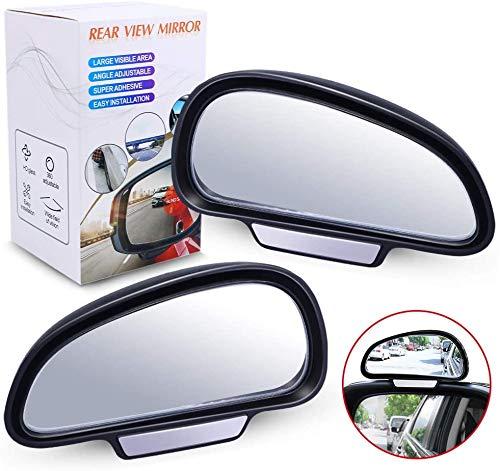 Biqing Espejo de Punto Ciego de Coche,Espejos de Gran Angular del Coche Ajustable Espejo retrovisor del Coche Espejo Auxiliar para Todas las Camionetas SUV Auto(Izquierdo + Derecho)