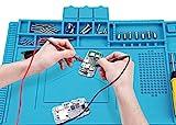 Alfombrilla de soldadura, 500 ℃ Resistente al calor, alfombrilla de reparación de silicona para soldar ensambles electrónicos o reparación de electrónica y placas de circuitos