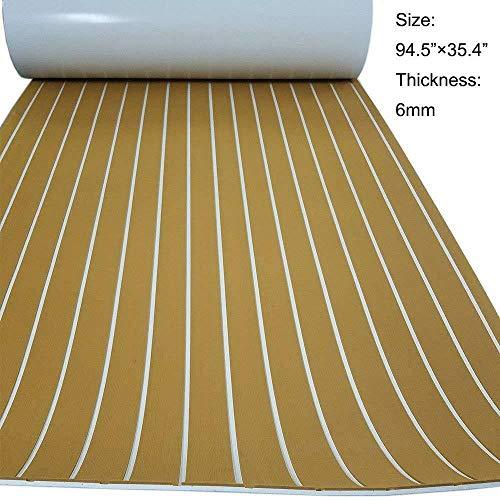 MINUS ONE 90x240 cm synthetisch teakhout vloerbedekking mat bruin Eva schuim bootvloerbedekking verzorgingsbord