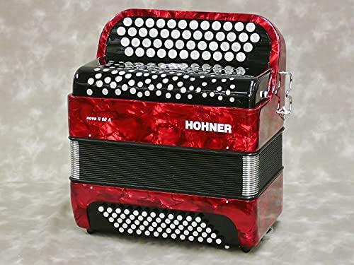 ACORDEON CROMATICO - Hohner (A1232) (Nova II) (60 Bajos) (Negro con...