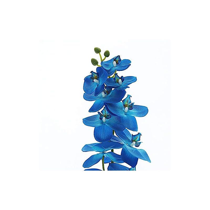 silk flower arrangements balsacircle 2 pcs 40-inch tall royal blue artificial faux silk orchid flowers sprays stems wedding events arrangements centerpieces supplies