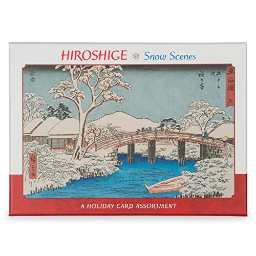 Hiroshige sneeuw scènes kerstkaarten doos 20