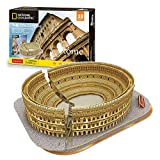 Cubicfun National Geographic 3D Puzzles for Adults Kids Italy Rome Colosseum Architecture Model Kits, Gifts for Boys Girls Adults, 131 Pieces