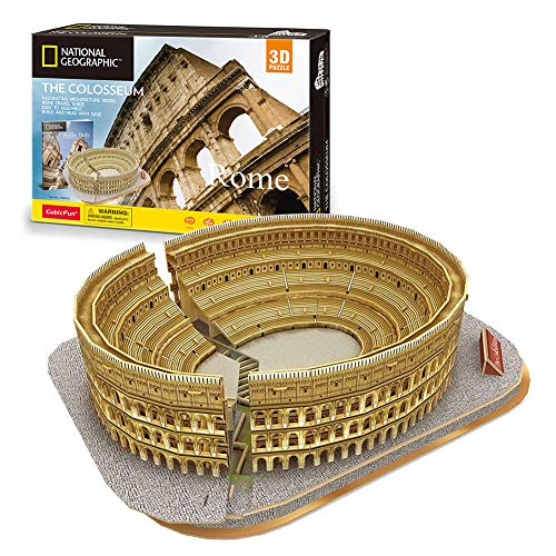 Cubicfun National Geographic 3D Puzzles for Adults Kids Italy Rome Colosseum Architecture Model...