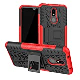 PIXFAB For Nokia 3.2 - Red Dual Layer Hybrid Tough Rugged