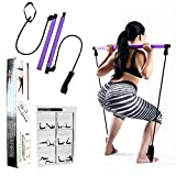 Portable Pilates Bar Kit with 30LB Thick Resistance Bands. Home Gym Resistance Bands For Home...