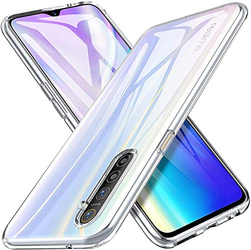 Pkila Cover for Realme 6 Soft, Thin and Transparent TPU Case Compatible with Realme 6 Soft Flexible Silicone Case - Transparent Gelatin
