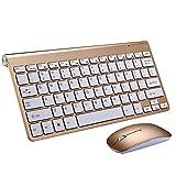 L-YINGZON Teclado Notebook Computadora de Escritorio Microsoft Silencio Thin Mini Teclado sin Hilos de Mouse Set Home Office
