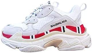Cuero Genuino con Fondo Plano Blanco Zapatos de Mujer Estilo de Moda Femenina Colores Mezclados Zapatos Casuales Zapatillas de Plataforma Wome