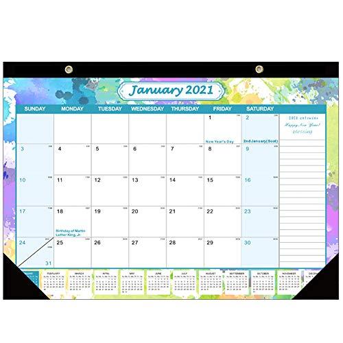 Calendario de Escritorio 2021, Calendario 2021, Va Desde Enero de 2021 A Diciembre de 2021 para Escribir Y Apuntar 43cm x 30.5cm