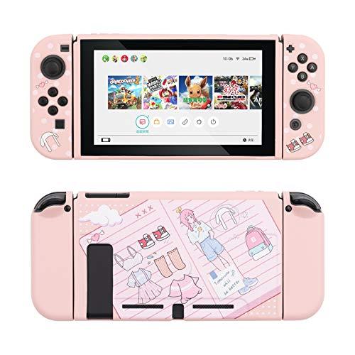 Étui de protection rose GeekShare compatible avec Nintendo...
